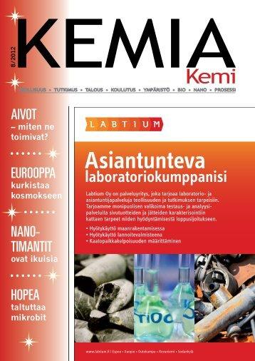 Asiantunteva - Kemia-lehti