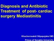 Diagnosis and Antibiotic Treatment of post-cardiac surgery ...