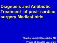 Diagnosis and Antibiotic Treatment of post-cardiac surgery ...