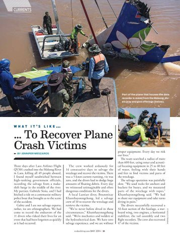 ... To Recover Plane Crash Victims
