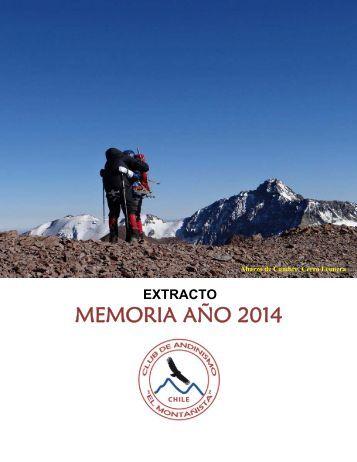 Club de Andinismo El Montañista - Extract Memoria Año 2014