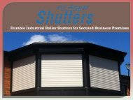 Durable Industrial Roller Shutters for Secured Business Premises
