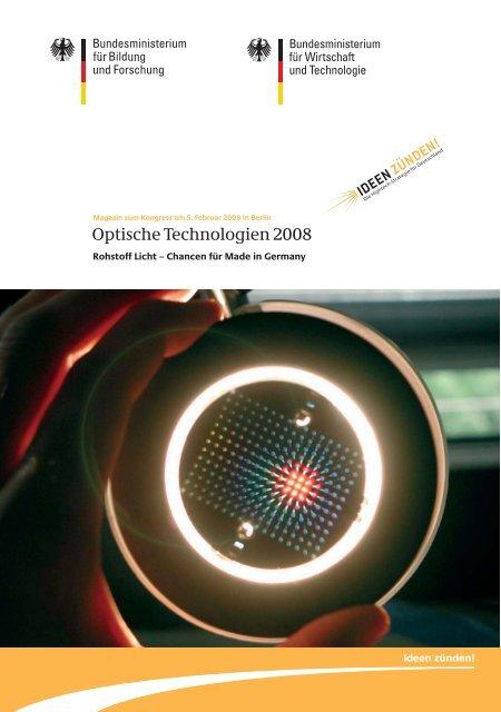 Magazin zum Kongress am 5. Februar 2008 in - bayern photonics eV