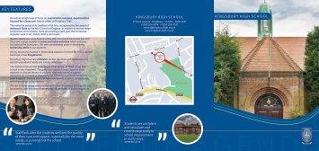School Brochure - Kingsbury High School