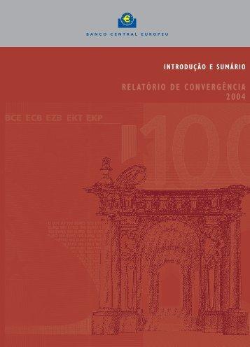 RELATÓRIO DE CONVERGÊNCIA 2004
