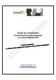 Guide du contributeur Mise à jour 2012-01-25_NA - Répertoire PPO