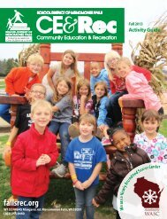 Activity Guide - Community Education & Recreation - Menomonee ...
