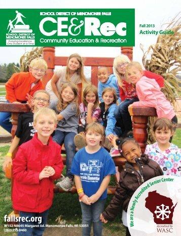 Activity Guide - Community Education & Recreation - Menomonee ...