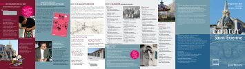 Laissez-vous conter Saint-Etienne» d'octobre à décembre 2013