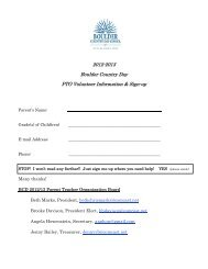 2012-2013 Boulder Country Day PTO Volunteer Information & Sign-up