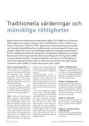 traditionella värderingar och mänskliga rättigheter