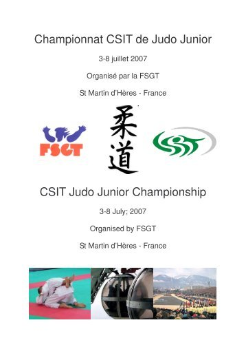 livret participant csit judo - CSIT - Confédération Sportive ...