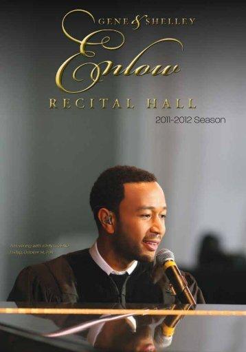 2011-2012 Season - Enlow Recital Hall - Kean University