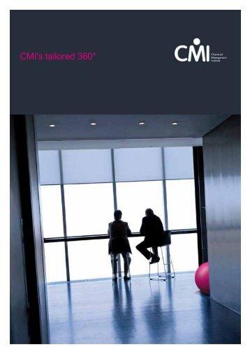 CMI's tailored 360°