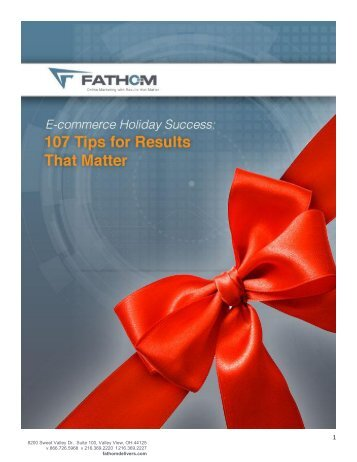 """E-commerce Holiday Success: 107 Tips for Results that ... - Fathom"
