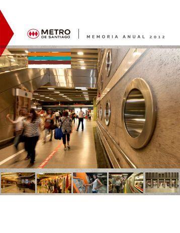 M E M O R I A A N U A L 2 0 1 2 - Metro de Santiago