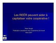 Les REÉR peuvent aider à capitaliser votre coopérative Peter ...