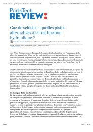 Gaz de schistes : quelles pistes alternatives à la fracturation ...