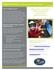 Digital Literacy Newsletter - the School District - Sd45.bc.ca