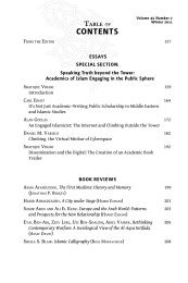contEnts - Middle East Studies Association