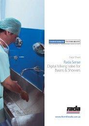 Rada Sense Digital Mixing Valve for Basins & Showers