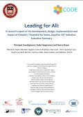 Page 0 | Leading for All: Executive Summary - CODE - Page 2