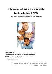 Inklusion af børn i de sociale fællesskaber i SFO - slbupl-fond.dk