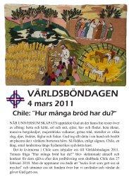 VÄRLDSBÖNDAGEN - Sveriges Ekumeniska kvinnoråd