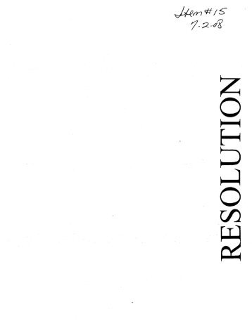 #15 - Resolution Opposing the Proposed Liquefied Natural Gas