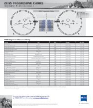 ZEISS PROGRESSIVE CHOICE - Luzerne Optical Laboratories