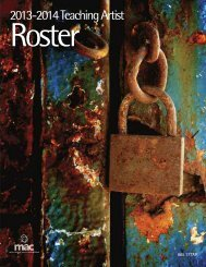 Download a PDF version of the 2013-2014 Teaching Artist Roster