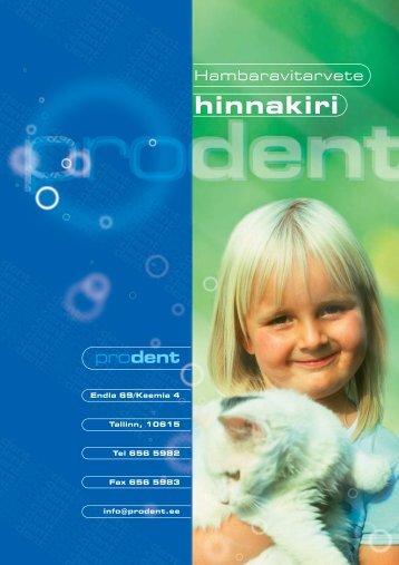 Copy of ProDent Hinnakiri 2010 - medinfo.ee