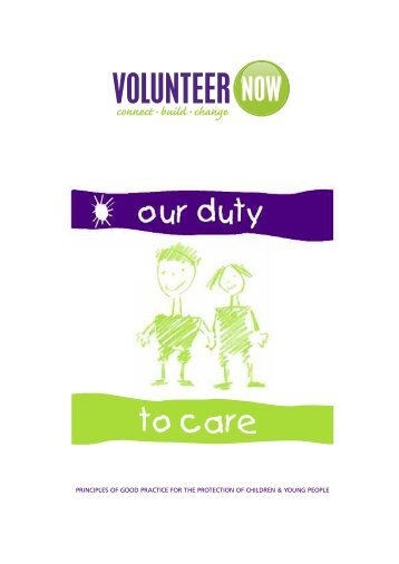Our Duty to Care - Volunteer Now