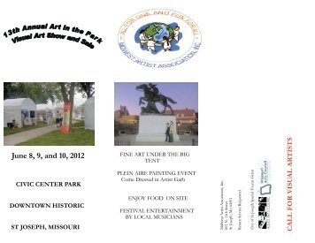 June 8, 9, and 10, 2012 - Allied Arts Council of St. Joseph