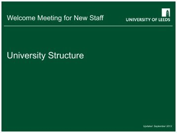 University Structure - Staff and Departmental Development Unit
