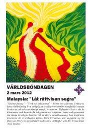 Malaysia - Sveriges Ekumeniska kvinnoråd
