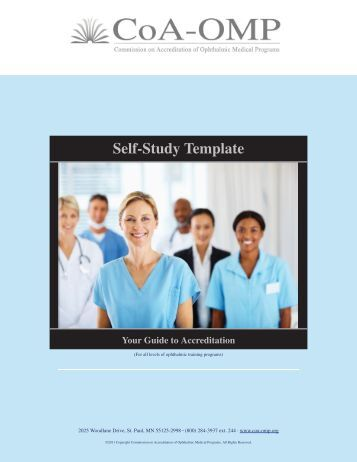CoA Online Self-Study Preparation Sheets for Site Visits