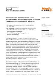 Presse-Information FutureE Fuel Cell Solutions GmbH FutureE ...