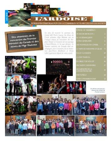 L'Ardoise - Vol. 3 #3 - Commission scolaire Pays des Bleuets