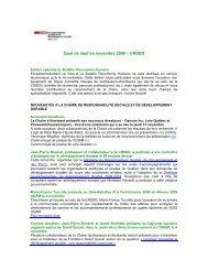 Novembre 2008 - Chaire de responsabilité sociale et de ...