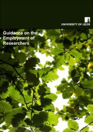 Guidance on the Employment of Researchers - Staff and ...