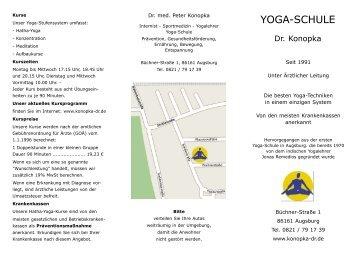 Prospekt - Yoga-Schule Dr. Konopka