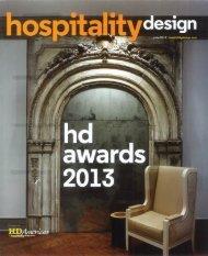 2013 Hospitality Design Magazine Annual Awards - Simeone Deary ...