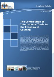 Quarterly Bulletin September 2010 - Gauteng Provincial Treasury