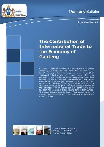 Quarterly Bulletin September 2010 - Gauteng Provincial Treasury