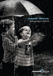savewater!® Alliance Inc. Annual Report 2008/09 - Savewater.com.au