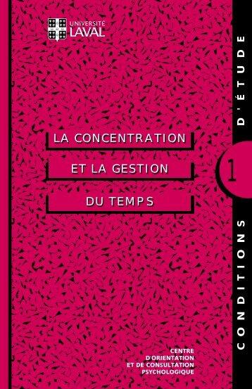 ET LA GESTION LA CONCENTRATION DU TEMPS