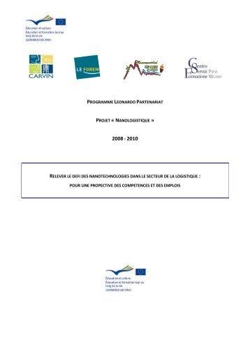 programme leonardo partenariat projet Â« nanologistique - Formation ...