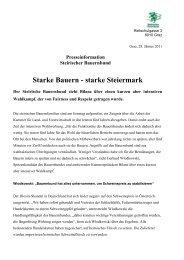 Starke Bauern - starke Steiermark