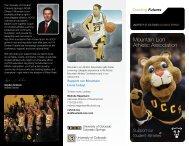 Mountain Lion Athletic Association - University of Colorado Foundation